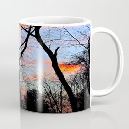 Sunset Through the Tangled Trees Coffee Mug