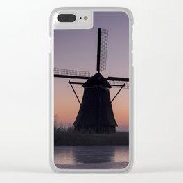 Windmills at Sunrise III Clear iPhone Case