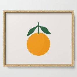 Orange Summer Citrus Serving Tray