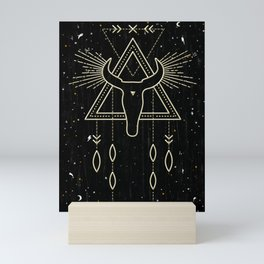 Tribal Shaman Skull Mini Art Print