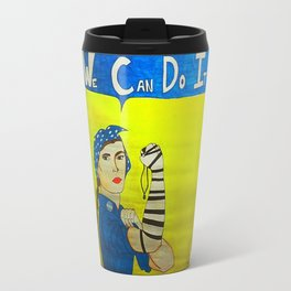 Jewish Rosie the Riveter Travel Mug