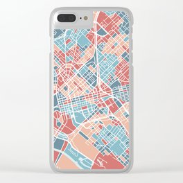 Dallas map Clear iPhone Case