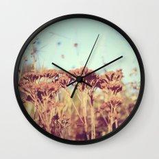 plants - Retro  Wall Clock