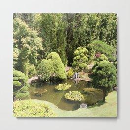 Japanese Tea Garden Pond Metal Print