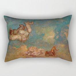 """Odilon Redon """"The Chariot of Apollo"""" Rectangular Pillow"""