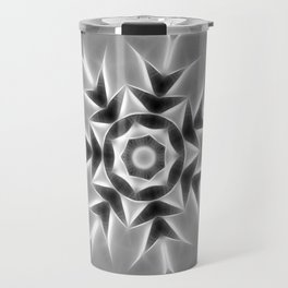 Gray Kaleidoscope Art 20 Travel Mug