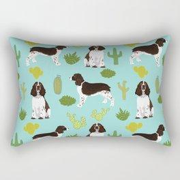 English Springer Spaniel southwest desert cactus pattern by pet friendly Rectangular Pillow