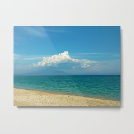 blue beach Metal Print