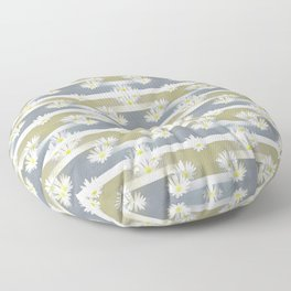 Mix of formal and modern with anemones and stripes 1 Floor Pillow