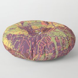 Delve into madness Floor Pillow