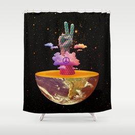 Peace Planet Shower Curtain