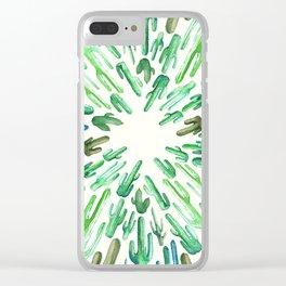 cactus center Clear iPhone Case