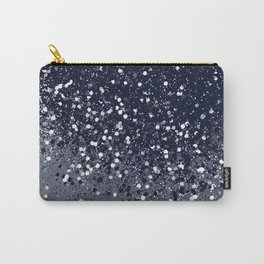 Sparkling Navy Blue Summer Night Glitter #1 #shiny #decor #art #society6 Carry-All Pouch