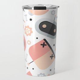 Attack of the Robots: Pink Travel Mug