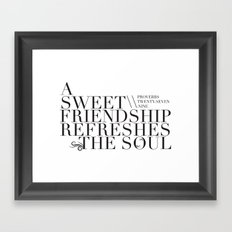 Sweet Friendship Framed Art Print