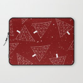 Christmas Trees Red Laptop Sleeve