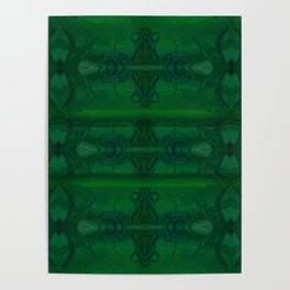 Patterns II Green Poster