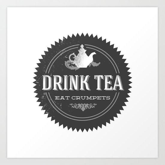 Tea Shop Logo Art Print