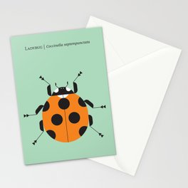 Lady Bug Green Stationery Cards