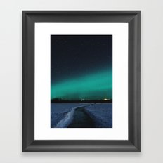 Northern Lights in the Great North Framed Art Print