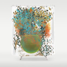 Happy Plant Shower Curtain