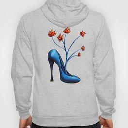 High Heel Shoe With Flowers Surreal Art Hoody