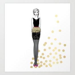 Golden Feathers Art Print