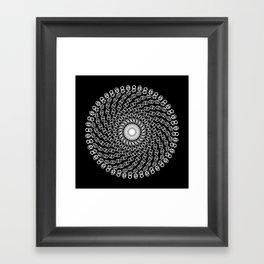 Hexagon Mandala Framed Art Print