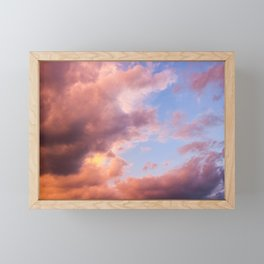 Pink Clouds Framed Mini Art Print