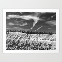 Cloudscape over Bryce Canyon Art Print