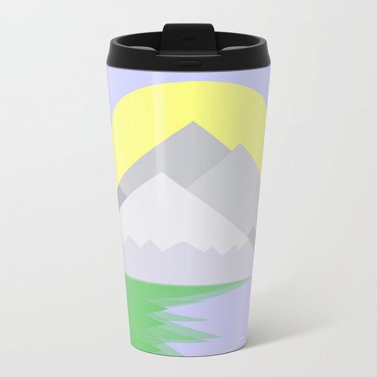 The mountains and the lake Metal Travel Mug