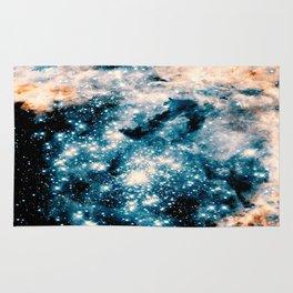 Nebula Galaxy Teal Peach Rug