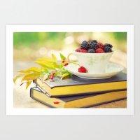 Fruity Tea Art Print
