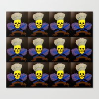chef Canvas Prints featuring chef by Albano Juliano
