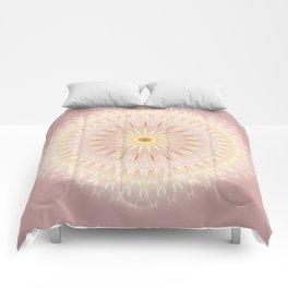 Gold Rose Mandala Comforters
