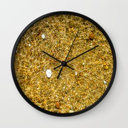 The bottom under the clean water Wall Clock
