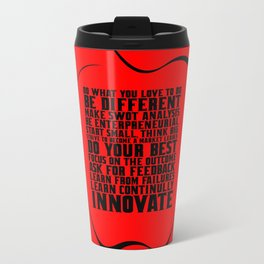 "Do what you love... ""Steve Jobs"" Life Inspirational Quote Travel Mug"