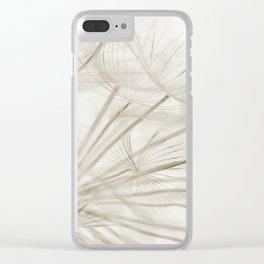 Dandelion Neutral Closeup Clear iPhone Case