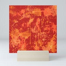 Orange and red riot Mini Art Print
