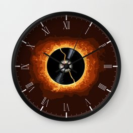 Exploding Record Wall Clock