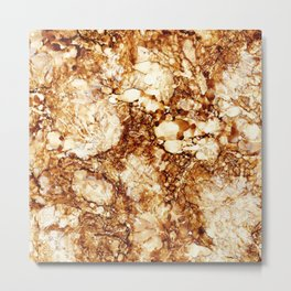 Marbled Teakwood Metal Print