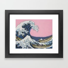 Sushi Waves Framed Art Print