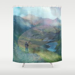 What is Reality? #2, Fun UFO image Shower Curtain