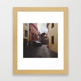 KRUMLOV STREETS Framed Art Print