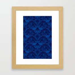 Stegosaurus Lace - Blue Framed Art Print