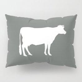 Cow: Dark Grey Pillow Sham