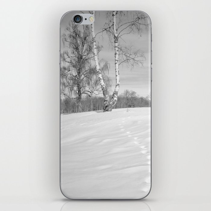Footprints in the snow iPhone Skin