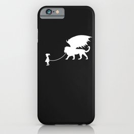 Manticore Pet Walked By Girl iPhone Case