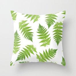 Fern seamless pattern. Throw Pillow