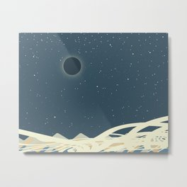 Total Solar Eclipse Art Image Metal Print